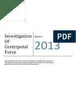 Investigation of Centripetal Force