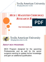 MCH Programs, Master of Surgery ,M.Ch Trauma & Orthopedic Surgery, TAU