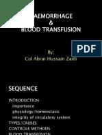 Haemorrhage Shock Transfusion
