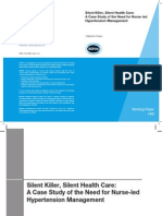 Silent Killer, Silent Health Care: