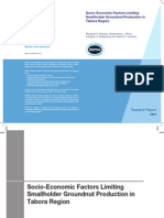 Socio-Economic Factors Limiting Smallholder Groundnut Production in Tabora Region