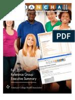 ACHA-NCHA-II ReferenceGroup ExecutiveSummary Fall2011