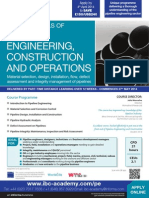 Fundamentals of Pipeline Engineering, Construction & Operations