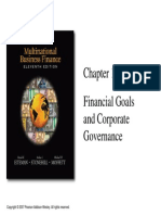 Chapter 1 Financial Goals and Corporate Governance