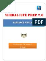 A Primer on Variance Analysis