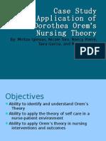 Case Study Application of Dorothea Orem's Nursing Theory