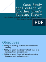 Case Study Application of Dorothea Orem's Nursing Theory