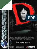 D  Sega Saturn manual