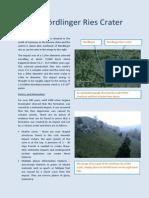 The Nördlinger Ries Crater leaflet