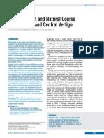 The Treatment and Natural Course of Peripheral and Central Vertigo