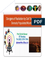 ProfKumar Mobile Tower Radiation Danger and Solutions Proposed to Government Prof Girish Kumar May 2012