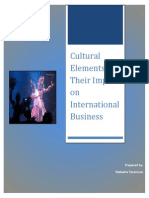 Cultural Elements & Their Impcat on International Business