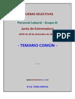 Muestra Temario Comun Grupo III