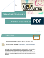 Presentazione Piano Garanzia Giovani