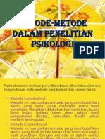 Metode-metode Dalam Penelitian Psikologi