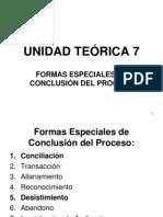 Unidad Teórica 7 - Formas de conclusión del proceso (1)
