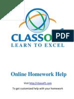 Online Homework Resources