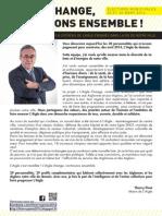 L'Équipe de Thierry Pinot Élections Municipales ville de L'Aigle 2014