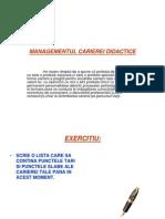 MANAGEMENTUL CARIEREI DIDACTICE