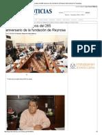 16-02-2014 'Avanzan preparativos del 265 aniversario de la fundación de Reynosa'