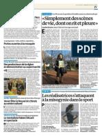 Article sur C'est pas du Jeu ! dans le Parisien