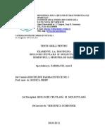 Teste Grila Biologie Celulara 2010-2011, Sem I.unlocked