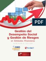 Gestión del Desempeño Social y Gestión de Riesgos en Entidades Financieras