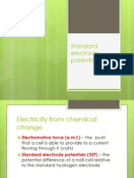 Standard Electrode Potentials Presentation