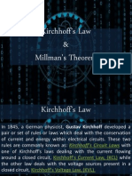 kirchhoff's law & millman's theorem