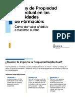 Propiedad intelectual y entornos digitales de formación Cámara Comercio nov 2013