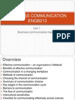 BUSINESS COMMUNICATION - Unit 1 - Business Communication Basics Copy