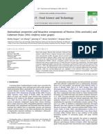 Hogan S. 2009 Antioxidant Properties and Bioactive Components of Norton (Vitis Aestivalis) and Cabernet Franc (Vitis Vinifera) Wine Grapes