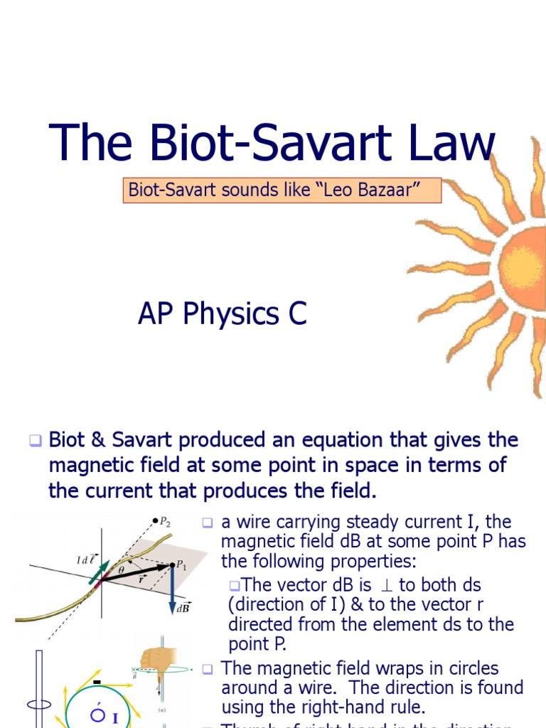 Skc Biot-Savart Law | Magnetic Field | Natural Philosophy