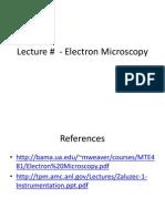 Electron Microscopy Lecture