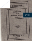 Methodist Episcopal Church Directory & Handbook, Port Byron, NY 1905