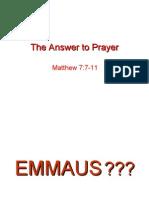 The answer to Prayer - Presentation slides