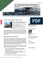 Pondasi Tiang Pancang (Pile Cap Foundation)