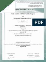 Eurovent+Certificate+ +Plate+Heat+Exchangers