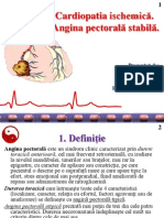 1. Cardiopatie Ischemica. Angina Pectorala Stabila