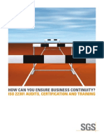SSC Business Continuity ISO22301 Brochure June 2012