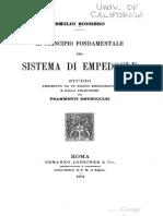 Il Principio Fondamentale Del Sistema Di Empedocle - Bobrero (1904)