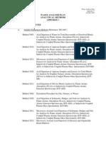 Waste Analysis Plan Analytical Method