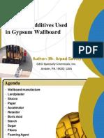 Gypsum Wallboard Additives