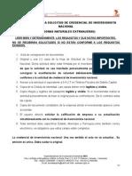 Instructivo Solicitud de Inversion Extranjera