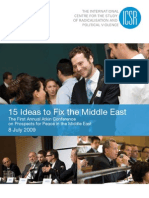 15 Ideas to Fix the Middle East