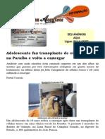 Adolescente faz transplante de células tronco na Paraíba e volta a enxergar