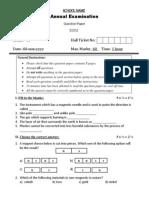Grade VI - Science Annual Exam
