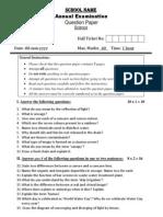 Grade VII - Science Annual Exam