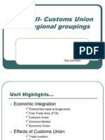 47974494 Unit VIII Customs Union and Regional Groupings
