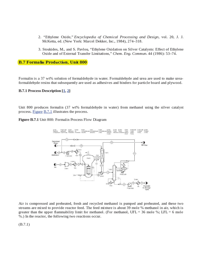 167043230 analysis synthesis and design of chemical processes third edition t l formaldehyde methanol - Ethylene Oxide Process Flow Diagram
